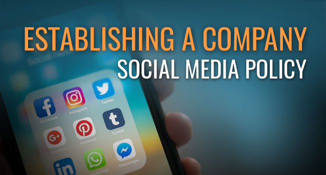Establishing a Company Social Media Policy Article by SDCCPA