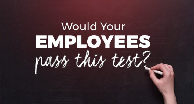 Would your employees past this test Article by SDCCPA